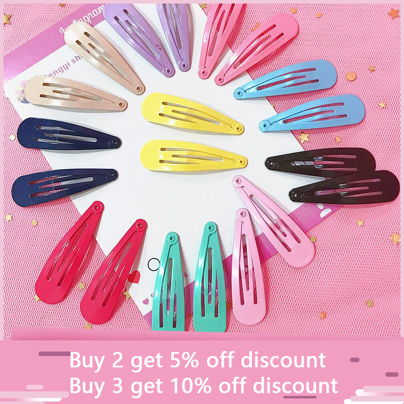 10pcs Mix Color BB Hairpins Cute Candy Color Hair Clips for Girls Water Drop Shape Bang Pins Metal Barrettes for Baby Children in Hair Clips Pins from Beauty Health