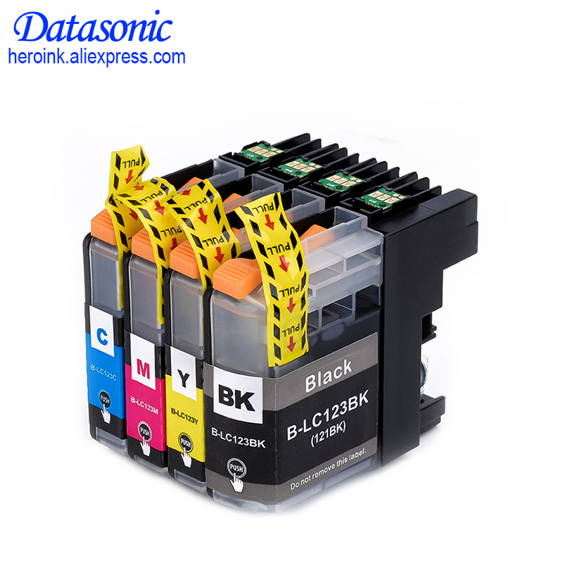 4PK LC123 Compatible Ink Cartridge With Chip For Brother MFC-J4410DW MFC-J4510DW MFC-J4610DW MFC-J4710DW MFC-J2510