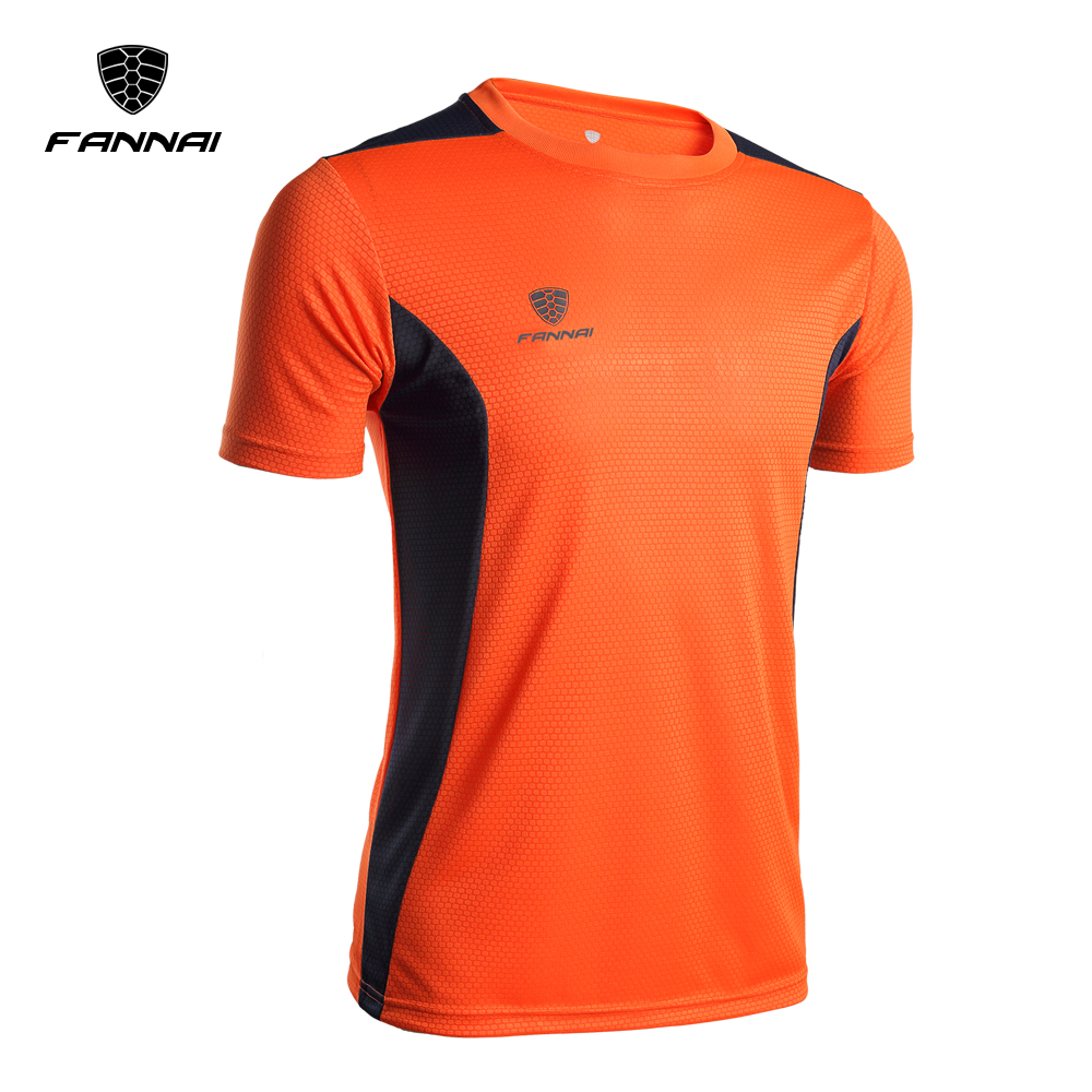 FANNAI Brand 2018 Men Sport Running Shirt Men Short Sleeve Running T Shirt Rashgard Male Quick Dry Clothing Sportswear Hot Sale round neck quick dry solid color short sleeve men s t shirt