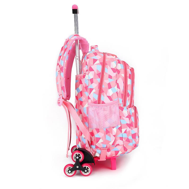 Grande Sacs De Capacité Élèves Fille Roulettes Primaire Noir Chaud Dos Adorable rose Chariot Vbiger Petite Les Du D'école À Pour Sac 0q8xww7zp