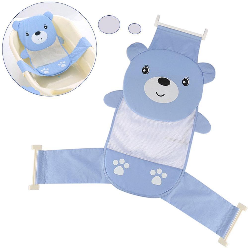 Мягкая подушка для ванны для новорожденного ребенка, плавающая Подушка с воздушной подушкой, подушка для купания малыша, подушка для душа, пищевая пена - Цвет: Baby Bath Seat Blue