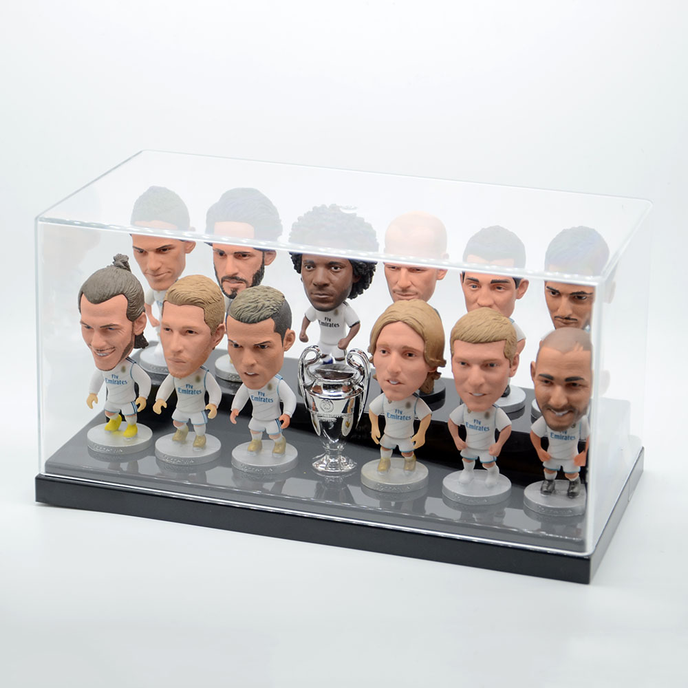 Soccerwe dolls RM MU football player team set action figures soccer star messi Ronaldo figurine toys with display box