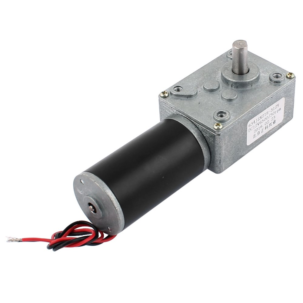 UXCELL DC 12V 30RPM 8mmx14mm D-Shape Shaft Turbo Worm Geared Motor Electric Power  Hot Sale