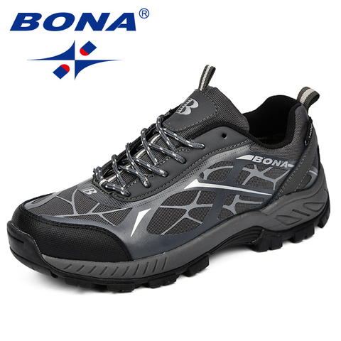 BONA Outdoor Sports Camping Shoes Men Tactical Hiking Shoes For Summer Breathable Waterproof Coating Men Athletic Shoes Islamabad