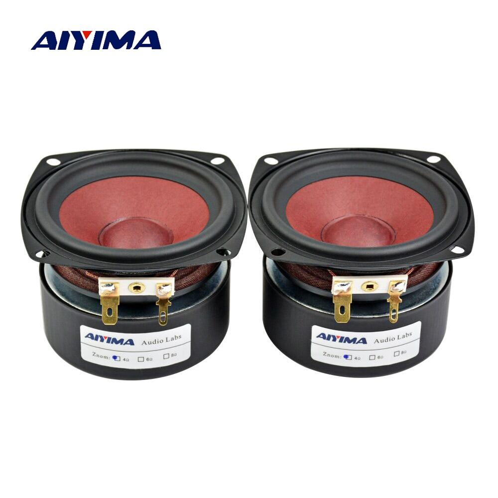 Aiyima 2 pc 3 Pouces Audio Haut-parleurs 4Ohm 8Ohm 20 w Gamme Complète Haut-Parleur HiFi Haut-Parleur Pour TV Ordinateur De Bureau bluetooth Audio DIY