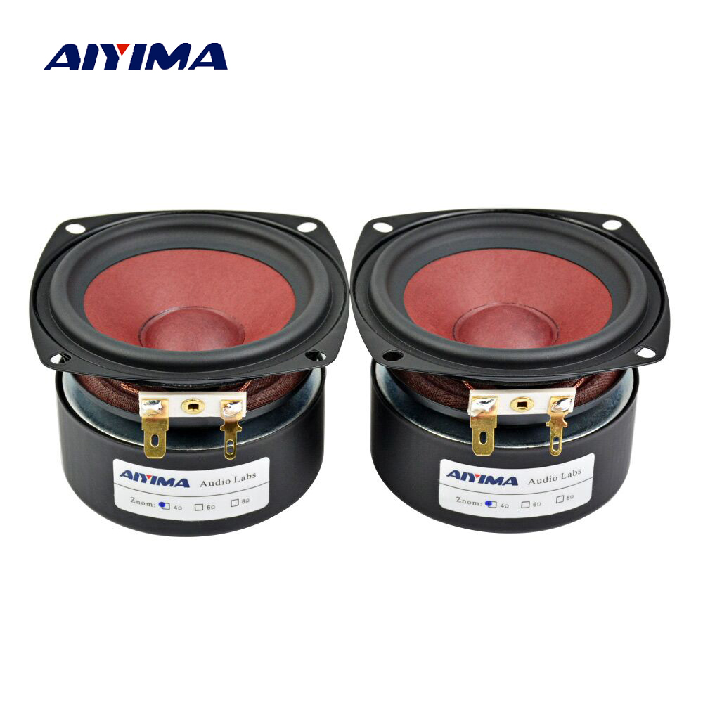 Aiyima 2PC 3Inch Audio Speakers 4Ohm 8Ohm 20W Full Range Speaker HiFi Loudspeaker For TV Computer Desktop Bluetooth Audio DIY цена