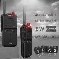 (2pcs) KSUN X 30 handheld walkie talkie portable radio 8W high power UHF Handheld Two Way Ham Radio Communicator HF Transceiver