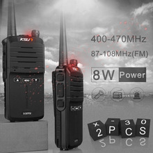 (2pcs) KSUN X-30 pegang tangan walkie talkie radio mudah alih 8W kuasa tinggi UHF Handheld Two Way Ham Radio Communicator HF Transceiver