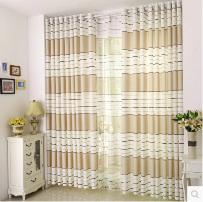 Luxury Striped Kitchen Door Curtains Bedroom Curtain Drape Semi Blackout  Window Blinds For Balcony(  Kitchen Door Curtains