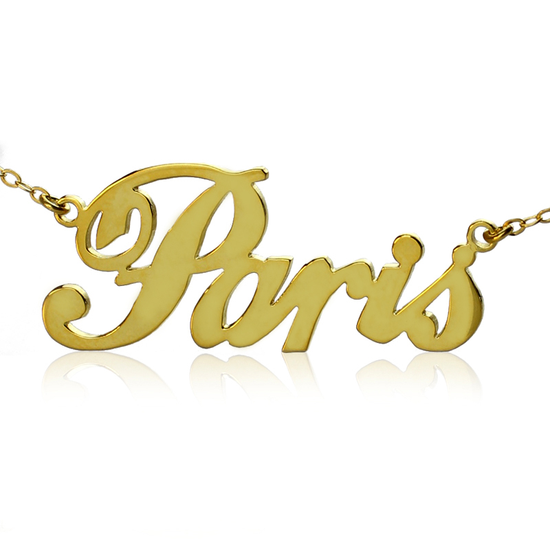 Free Shipping Paris Name Plate Necklaces ANY Personalized