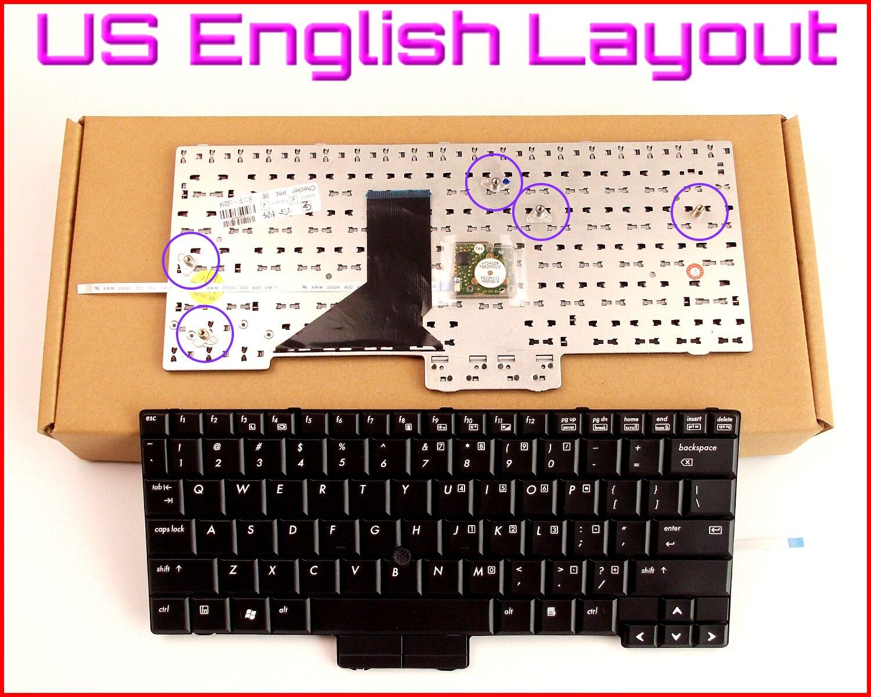 New Keyboard US English Version for HP/Compaq 2510 2510P 2530 2530P 447789-001 1KADZZU0TP7 AE0T2U00110 V070102AS1 Laptop