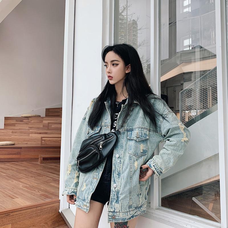 HTB1X8BzbRKw3KVjSZFOq6yrDVXa2 RUGOD 2019 New Autumn Funny Cartoon Print Long Denim Jacket Women Vintage Streetwear Punk Style Jean Jacket casaco feminino