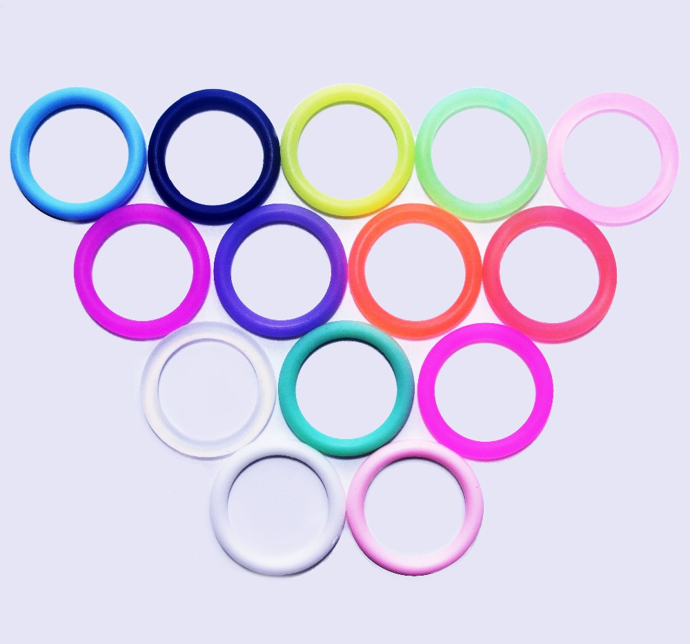 1000pcs BPA Free Transparent Clear Silicone Baby Pacifier Chain Holder Dummy Ring MAM Adapter O Ring