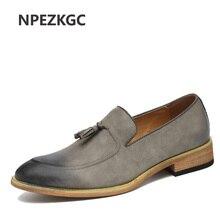 NPEZKGC 2017 Men Loafers Genuine Leather Casual Shoes Men Flats Oxford Shoes For Men Driving Shoes