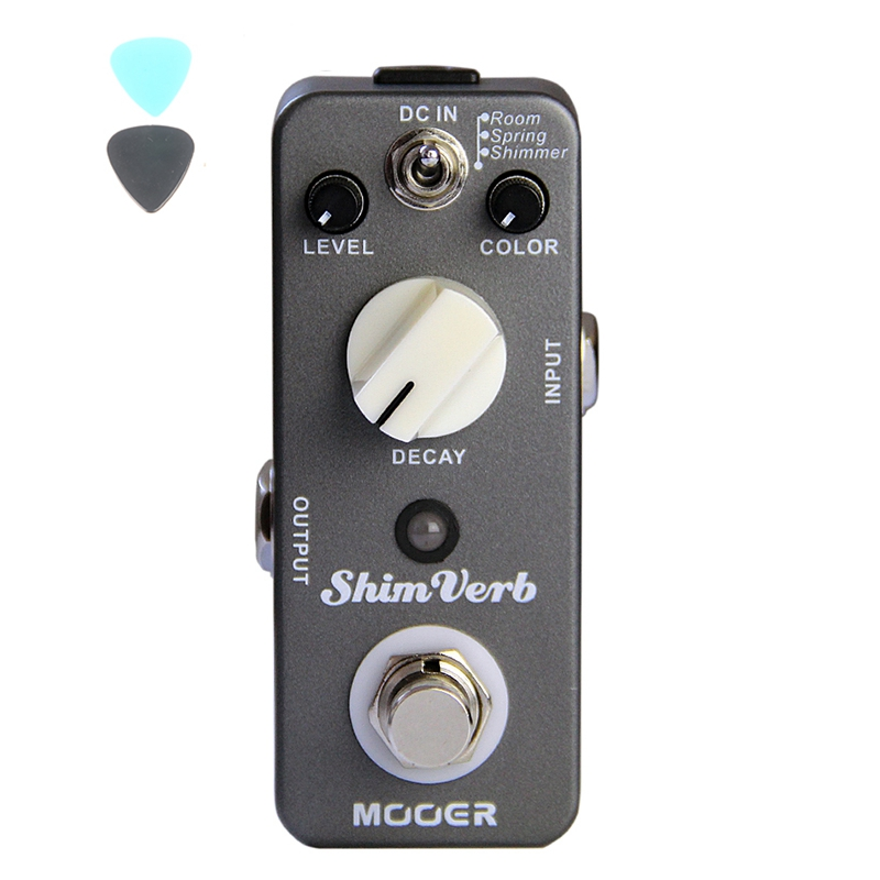 MOOER ShimVerb Guitar Effect Pedal Reverb Pedal True Bypass Excellent Sound Guitar Accessories mooer shimverb digital reverb guitar effect pedal true bypass with free connector and footswitch topper