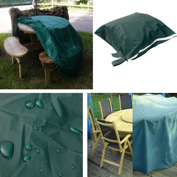 High Quality And Durable Waterproof Outdoor Furniture Cover ROUND Patio  Dining Coffee Table Chair Shelter Breathable Large Cover