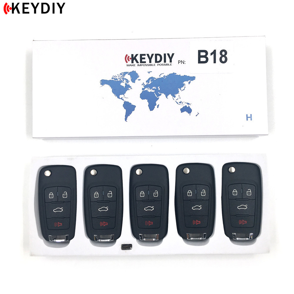 5pcs/lot,KEYDIY Original KD B18 4 Buttons Remote Car Key For KD900+/URG200/KD X2 Key Programmer B Series Remote Control-in Car Key from Automobiles & Motorcycles    1