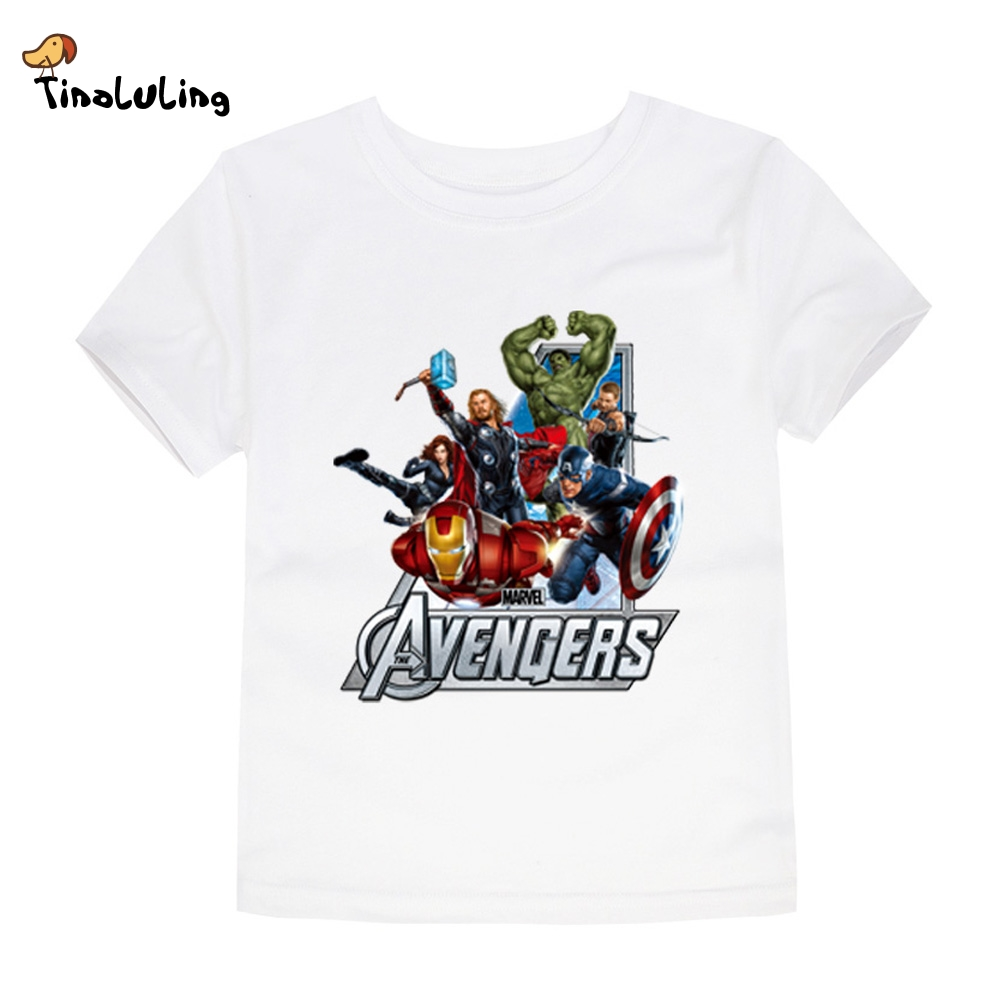 Tinoluling girls boys avengers t shirt baby kids t shirt Boys superhero t shirts