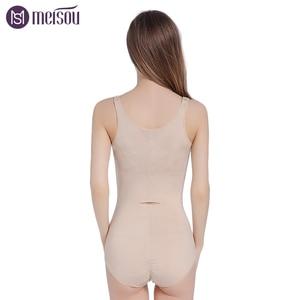 Image 5 - Meisou Hot Women Waist Trainer Body Shaper Corsets With Zipper  Shapers Cincher Corset Top Slimming Belt Black Shapewear Plus