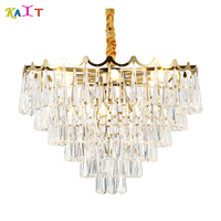 Modern chandelier ceiling crystal Luxurious for Living Room Dining Room Gold Crystal Chandelier LED