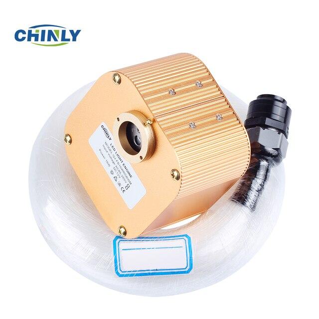16W RGBW Twinkle Cree Chip Machine LED fiber optic light kit 300pcs 0.75mm 3M fiber optical Cable with free 5pcs Plastic Crystal