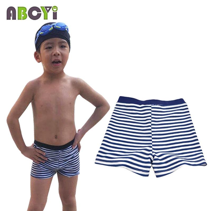 9d33e8e38d Boys Swimwear 2015 New Summer Kids Swimsuit Shorts Rainbow/ Blue / Navy  Blue Stripe Swimming Trunks for 3-5Y Boy Girls Swim Wear