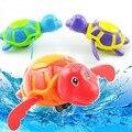 Clásico Divertido Tortuga terminan Nadando Juguetes de Baño Lindo Winding Juguete Tortuga de Natación Para Bebés y Niños Multi Color Al Azar Plástico
