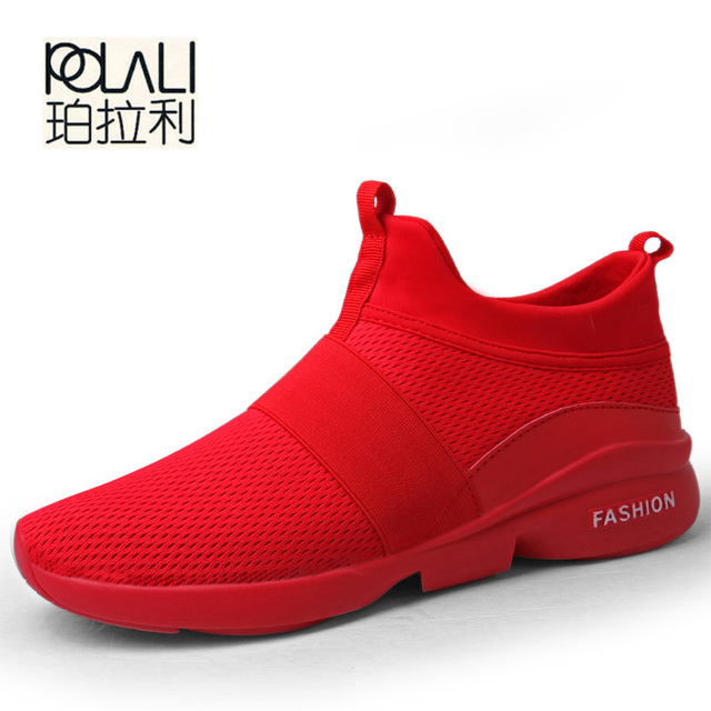 0a64a7ffd44c POLALI Spring Autumn New models men shoes 2018 fashion comfortable youth  casual shoes For Male