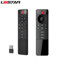 L8star Voice Afstandsbediening Backlit Wireless Fly Air Muis Google Microfoon Ir Leren 6-Assige Gyroscoop Voor Android Tv doos(China)