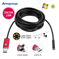 Red 8mm Lens USB Endoscope Android 2M 5M 10M OTG PC Endoscopio Mini Endoscope Camera 720P Inspection Waterproof Phone Camera
