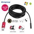 Rojo 8mm Lente Del Endoscopio Del USB Android 2 M 5 M 10 M OTG PC Endoscopio Mini Cámara Endoscopio 720 P Inspección Impermeable Cámara Del Teléfono