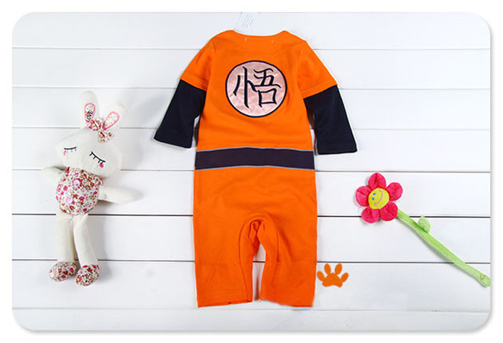 6900775724f21 Dragon Ball Z cosplay Son Goku baby boy girl costumes jumpsuit baby cotton  rompers cute kids long sleeve siamese trousers-in Boys Costumes from  Novelty ...