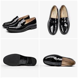 Image 5 - BeauToday mocassins à stylo à bout rond pour femmes, chaussures à bout rond en cuir véritable de vache, chaussures émaillées, chaussures de porte verni, plats, fait à la main, 27039