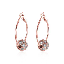Fashion new earrings Womens sell Set auger rose gold  ear ring three color
