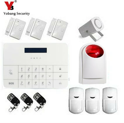 YobangSecurity Wireless Wired GSM SMS RFID Home Burglar Security Alarm System Android IOS APP with Keypad Auto Dial Garden Alarm fuers smart app control wireless wired home gsm sms security alarm system auto dial with infrared detector door open reminder