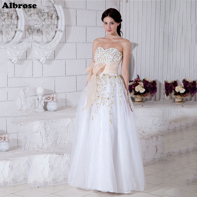 Chic white wedding dress long embroidery elegant wedding dresses chic white wedding dress long embroidery elegant wedding dresses organza bow bridal gowns robe de fancy junglespirit Choice Image
