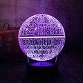 Звездные войны  Звезда смерти  3D RGB LED ночник  7 цветов  меняющий сон  настольная лампа  Luminaria  украшение для гостиной  праздничные подарки для д...