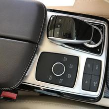 1piece car styling vehicle interior stickers interior control panel center console cover for Mercedes benz GLE ML W166 GL GLS yimaautotrims middle control gear shift multimedia cover trim interior mouldings fit for mercedes benz gle w166 2016 2017 2018