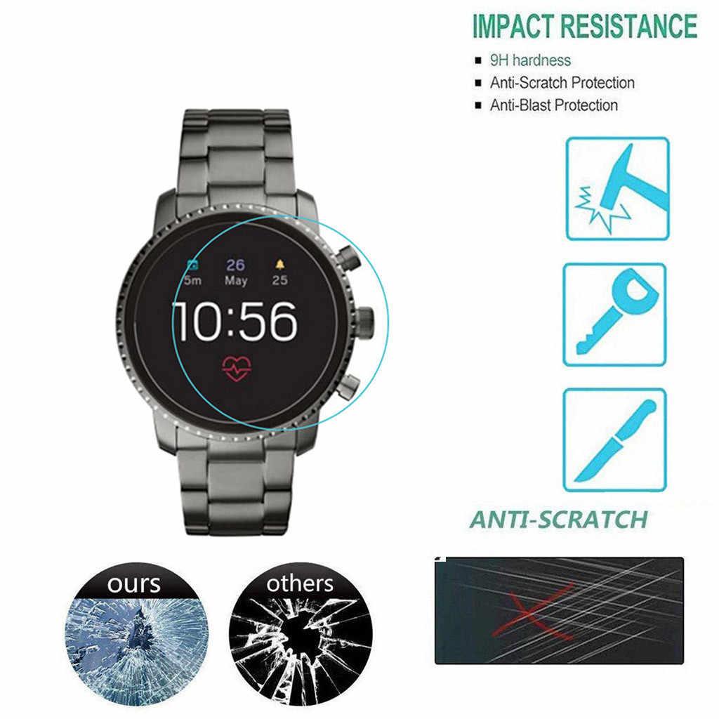 3PC Relógio Inteligente Proteção De Tela de Vidro Temperado Film Terno Para Fósseis 4 Gen Q Venture HR Ransparent Cobertura de Tela protetor