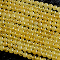 """Desconto Atacado Natural Genuine Amarelo Datolite Danburite Rodada Contas Loose 4-14 Jóias DIY Colares ou Pulseiras 16 """"03681"""