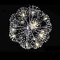 Moderno de diente de león Led bola de cristal colgante comedor Luz de restaurante de diseño lámpara casa decoración cromo lámpara G4 bombilla 110- 220 V