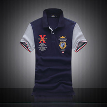 New 2016 Top Quality Embroidery Men s polos shirt Men fashion casual cotton Shirts mens short