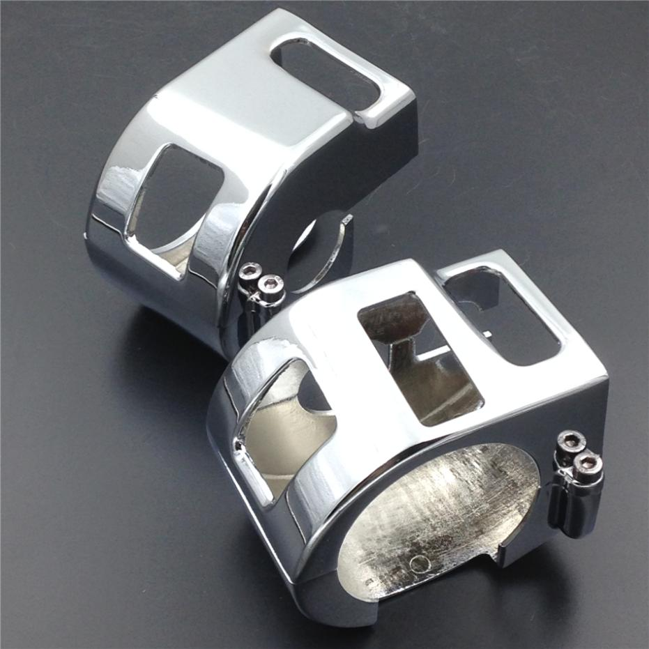 For Motorcycle Yamaha V-Star XVS 650 Classic Silverado models CHROME Switch Housing Cover motorcycle parts racing custom amber bulbs blinkers indicators turn signals accessories lights chorme fit for yamaha v star vstar v star xvs 1100 silverado