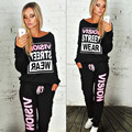 2017 Autumn Tracksuit Suit Women Two Piece Set Long Sleeve Tops Long Pants Set Plus Size Casual Femme