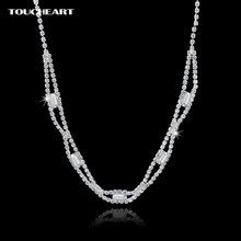Toucheart длинные стразы ожерелья для женщин Женское Ожерелье