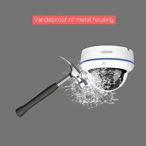 Image 5 - AZISHN Vandalproof H.265 HD 5MP Hi3516EV300 IP מצלמה 2592*1944 ONVIF PTP 15IR כיפת מתכת עמיד למים אבטחת CCTV מצלמה
