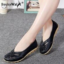 Large size summer women flats shoes genu