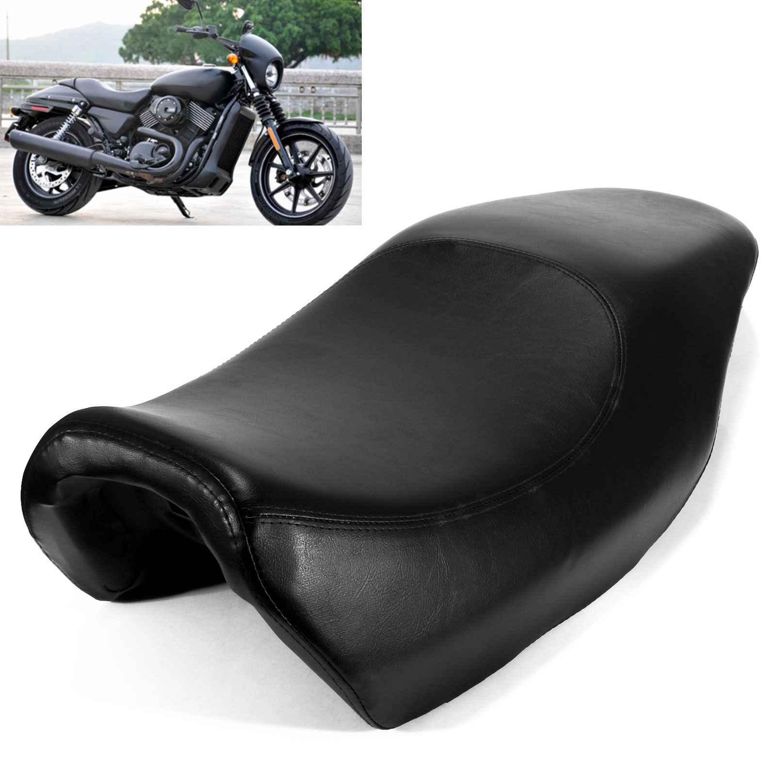 High Quality Motorcycle Two Up Driver Front Rear Passenger Seat Cushions For Harley Davidson Street 750 500