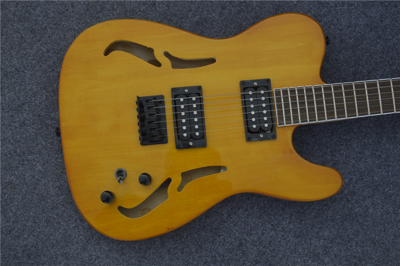 High quality,2 pickups S hole TL electric guitar,body spalted mape ,,Real photos,free shipping