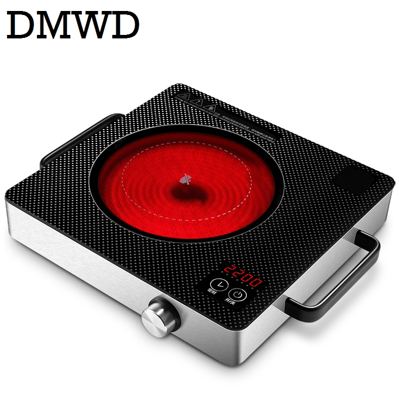 DMWD Electrical magnetic Waterproof induction cooker intelligent hot pot stove with timer ceramic induction household cooktop EU 220v 600w 1 2l portable multi cooker mini electric hot pot stainless steel inner electric cooker with steam lattice for students